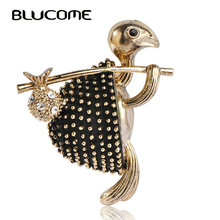 Blucome Vintage Style Walking Tortoise Brooch Women Kids Clothes Accessories Crystals Turtle Animal Brooches Suit Corsage Pins(China)