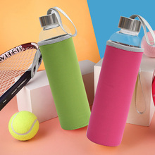 550ml High Temperature Resistant Glass BPA Free Sport Water Bottle With Tea Filter Infuser Heat Water Jug Protective Bag Tea Jug(China)