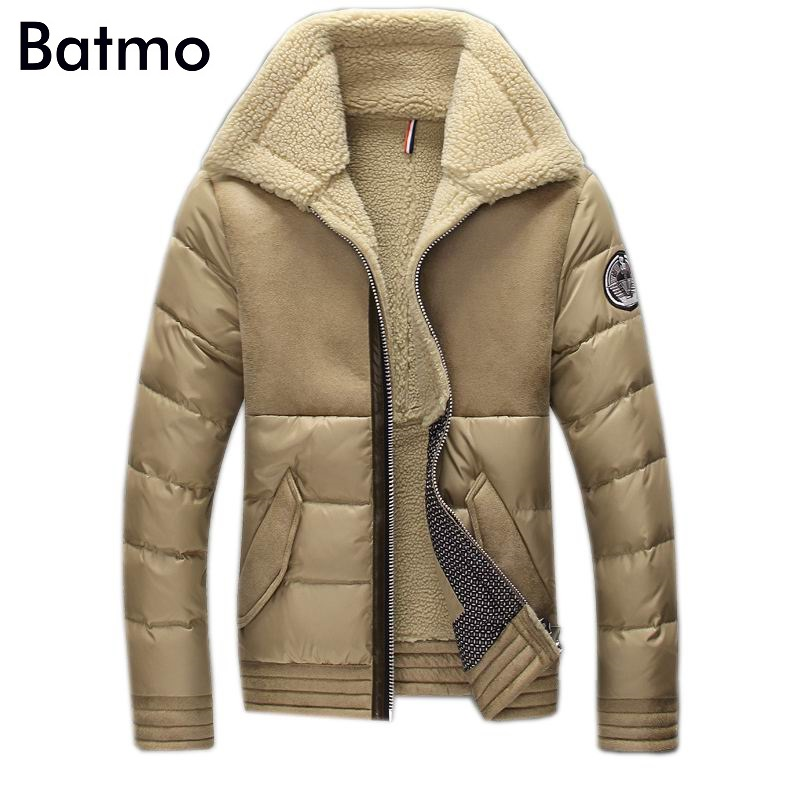 2018 new winter high quality wram 90% White duck down coat men,winter Cashmere linner jacket men,size M,L,XL,XXL,XXXL, 3 color
