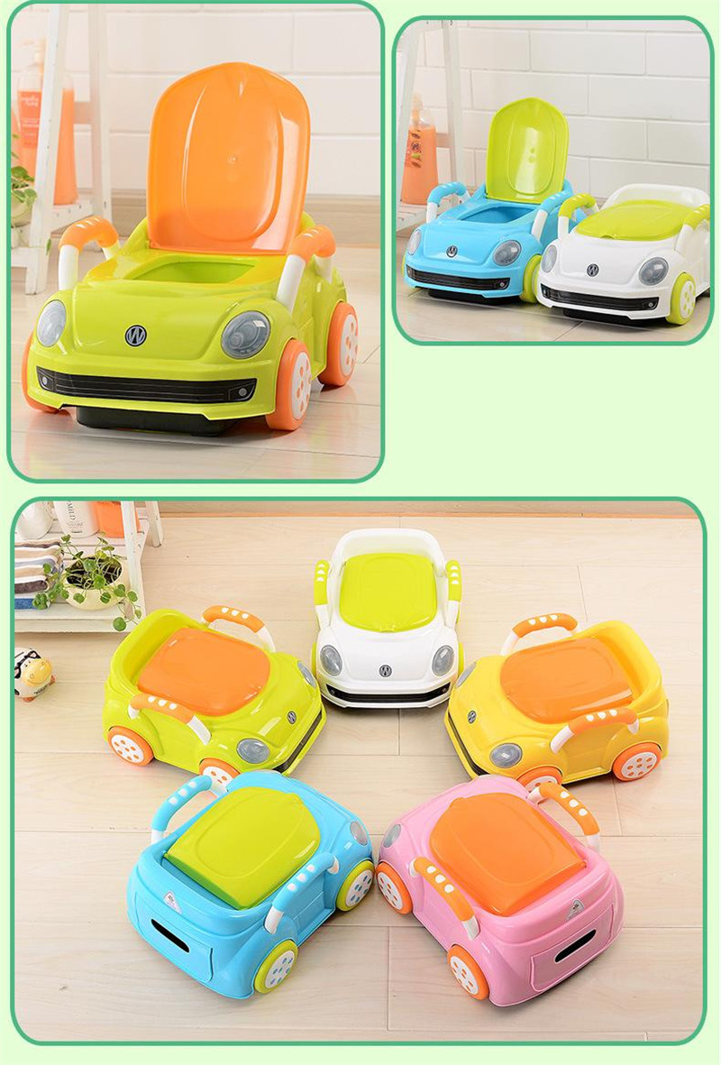 2017 Brand Cute Beetle Car Style Baby Potty Trainer Plastic Kids Toilet Travel Potty Chair Free Shipping Urinary Potty Boy Girl13
