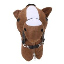 1Pcs Animal Pony Head Guard Cover Golf Accessories Wood Head Protective Cover Golf Club Head Covers Golf Accessories Promotion(China)