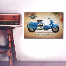 European Retro style blue ads sign board Wall stickers metal iron crafts pictures Furnishing articles painting draw bar house(China)