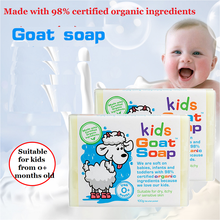 GoatMilk premium hand made Kids Soap Moisturizers, naturally soothing, calming & low irritant, relief from eczema, psoriasis(China)