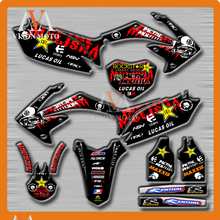 Customized Team Graphics & Backgrounds Decals 3M Stickers For HONDA CRF450R CRF450 R 2009 2010 2011 2012 09-12
