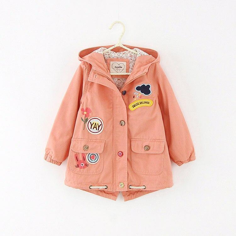 Trench Coat Boys Girls Spring Autumn Winter Kids Windbreaker Children Outwear Jacket Roupas Infantis Menina pink green Color<br><br>Aliexpress