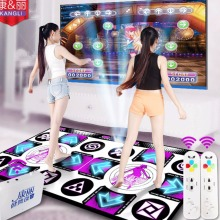 KL double dance pads English menu Flash light guide 11 mm thickness mat two remote controller sense game for PC & TV  Wireless