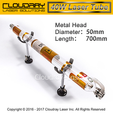 Co2 Laser Tube Metal Head 700MM 40W Glass Pipe for CO2 Laser Engraving Cutting Machine