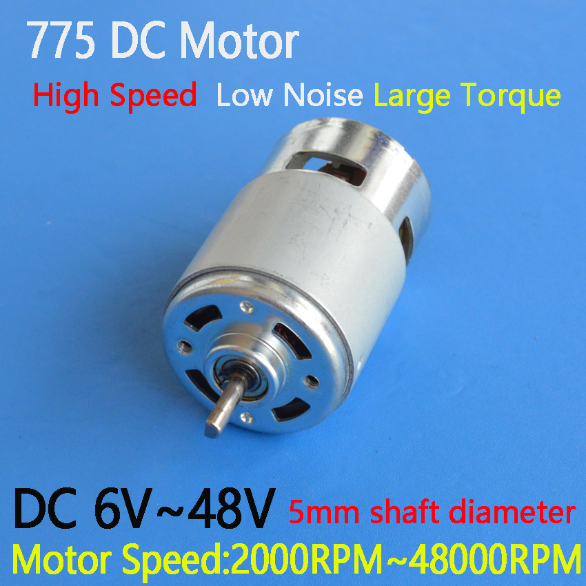 775 12V DC Motor Oblate D Style Axle Mini Generator DIY High Torque /& Bearing