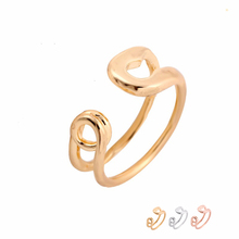 Wholesale 10pcs/Lot Funny Big Safety Pin Ring Adjustable Rings Gold Silver Rose Gold-color Simple Jewelry For Women