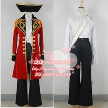 Aph Axis Power Hetalia Britain UK England Pirate Cosplay Party Costume