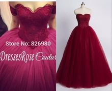Buy Vintage Burgundy Color Princess Wedding Dresses Ball Gown Detachable Strap 2017 Puffy Gothic Wedding Gowns Real Photos for $249.89 in AliExpress store
