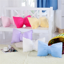 1pc Bow cushion blue/red/purple/white/pink wedding decoration decorative pillows coussin decoration throw pillows