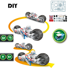 DIY Electronic Building Blocks Self Assembled Motorcycle Brine Power Battery Education Intelligence Boy Gift Block Toys