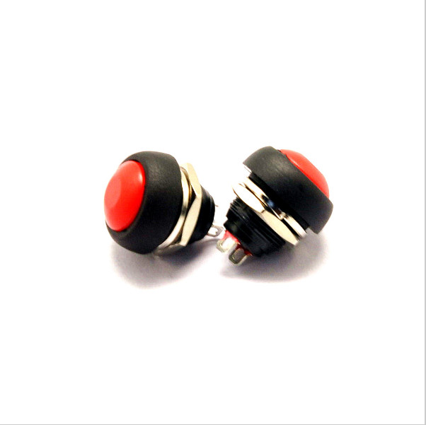 2pcs/lot YT105  12 mm,Red  no lock switch Small automatic reset button switch waterproof switch free shipping<br><br>Aliexpress