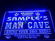 DZ031- Name Personalized Custom Man Cave Football Bar Beer Neon Sign   hang sign home decor shop crafts