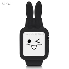 FI FEI Cute Cartoon Rabbit ears Soft Silicon Protective Case For Apple Watch Series 1 2 3 Cover Shell 42 mm 38MM 42MM 38&42mm(China)