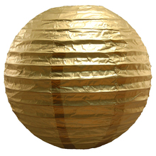 10pc Metallic Gold/Silver Chinese Paper Lanterns Party Decors Wedding Home Garden Festival Birthday Supplies Hanging Balls