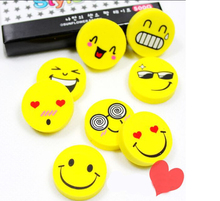 4 Pieces New Lovely Cute Cartoon Kawaii Eraser Rubber Korean Stationery School Supplies Smile Novelty Kid Gifts Fantastic