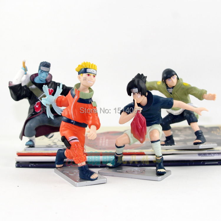 Anime Uzumaki Naruto Uchiha Sasuke Hyuuga Hinata Hoshigaki Kisame PVC Action Figures Collectible Model Toys 4pcs/set #LT021<br><br>Aliexpress