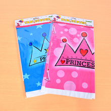 1pc 180*108cm Cartoon Disposable Pink Blue Crown Table Cover Candy Cute Tablecloth Nursery Party Birthday Party Supplies