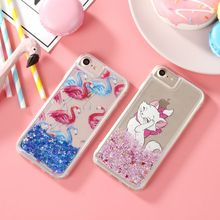 Glitter Stars Dynamic Liquid Quicksand Crystal Clear Transparent Case Meteor Twinkling Hard Cover For iPhone 6 6S 6Plus 7 Plus(China)