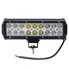 1Pcs 9inch 54W Crees Chip LED Light Bar Spot Flood Combo Beam Offroad Light 12V 24V Work Lamp For ATV SUV 4WD 4X4 Boating Huntin
