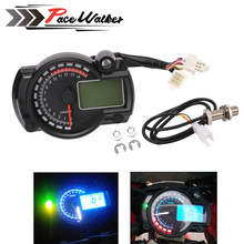 FREE SHIPPING 2016-2017 15000rpm modern RX2N similar LCD digital Motorcycle odometer speedometer adjustable MAX 299KM/H meter(China)
