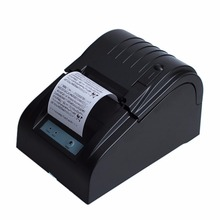ZJiang New Brand Black 58mm Thermal Dot Receipt Printer EU Plug for Supermarket Hotel Mall