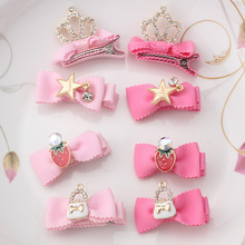 New Princess Crown Hairpins Hair Accessories Cat Girls Kids Tiaras Headwear Star Dancing Party Hair Clip Barrettes(China)