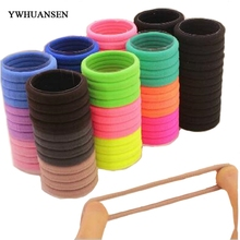 YWHUANSEN 24pcs/lot Women Elastic Hair Bands Colorful Soft Ponytail Holder For Adult/Children Hair Accessories Girls Hair Tie(China)