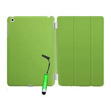 New Smart Stand Magnetic Leather Case Cover For iPad 5/iPad Air colour:Green