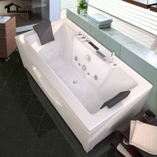 1700mm Whirlpool Bath Piscine Shower Massage Bathtub Spa Hydromassage Glass Acrylic Hot tub 2 person Wall Corner 6132(China)