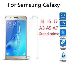 CUUSEY Ttempered glass Samsung Galaxy Grand prime G530 J1 J3 J5 J7 A3 A5 A7 2016 2015 screen protector glass film g530