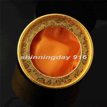 Fashion Golden Round Watch Box Hight Quality Paper Gift Box 8.3*3.5cm
