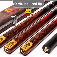 Brand OMIN Snooker Cue The Top Level, 145cm Length, 10mm Cue Tip, Ash Wood ,3/4 ProfessionalHandmade Billiard Stick,