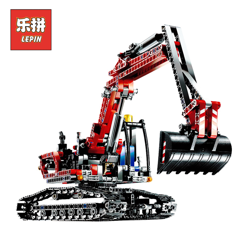 Lepin 20025 Genuine Technic Series the Red Engineering Excavator Set Building Blocks Bricks Educational Toys Boys Gift 8294<br>