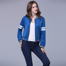 2016 spring autumn new both sides Reversible flowers embroidered stand collar blue bomber padded jacket real photo(China)