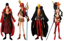 New Janpanese Anime One Piece Film Z PVC Action Figure Toys Dolls Zoro Sanji Nami Robin Model Collections 15cm set of 4