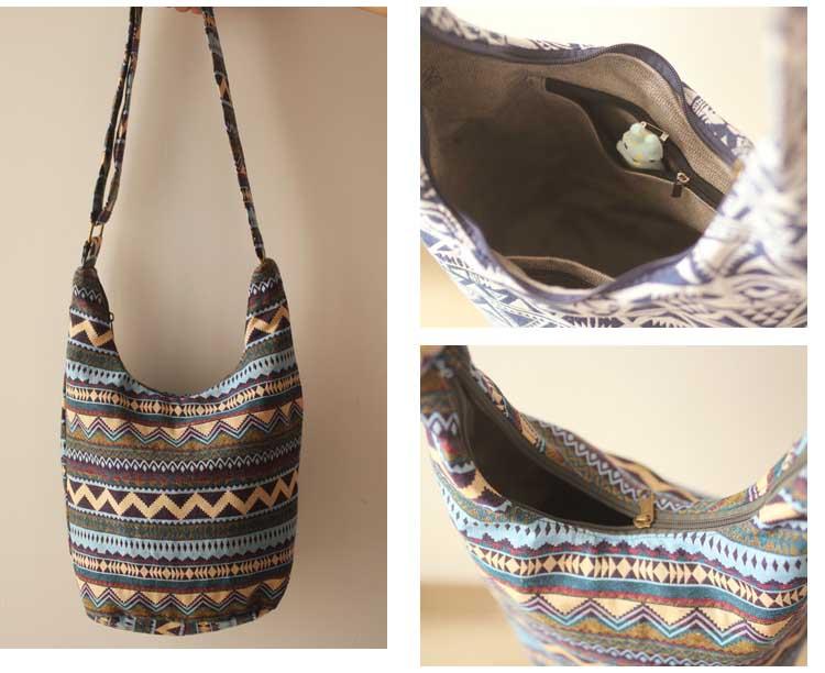Women Vintage Shoulder Bag Plain Travel Overnight Hobo Sling Crossbody Hipster Bag womens