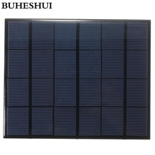 BUHESHUI 6V 3.5W Mini Solar Panels Small Solar Power 3.6v Battery Charge Solar Led Light Solar Cell Epoxy 165*135MM 10pcs/lot(China)