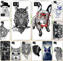 Best selling painted Cool Animal Cat Fox Giraffel Dog Owl PC cell phone case For BQ M5 Cover Shell  For BQ Aquaris M5 cases