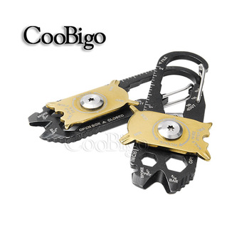 EDC Protable Outdoor Mini 20 in1 Pocket Multi Tool Bottle Opener Keychain Screwdriver Outdoor Camping Hiking Kits #FLQ210