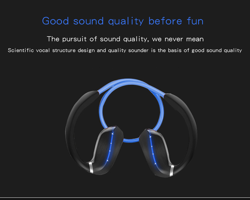 Active noise cancelling bluetooth headphone IPX5 waterproof wireless earphone sport neckband bluetooth headset with mic stereo