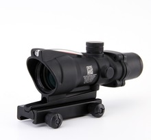 Trijicon ACOG 4X32 Fiber Source Red Illuminated Scope black color Tactical Hunting Riflescope(China)