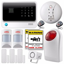 Wireless WiFi Network GSM SMS Home Security Alarm System IOS Android app Control+new anti-pet pir detector WiFi Alarm System