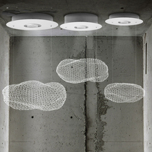Iron net Ceiling Lights LED Nordic Creative Cafe Restaurant Bar Children's Clouds Ceiling Lamps CL(China (Mainland))