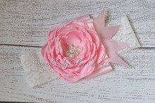 12pcs/lot  Shabby Chic Vintage Inspired Headbands Flower Girl Hair Accessory Photo Prop