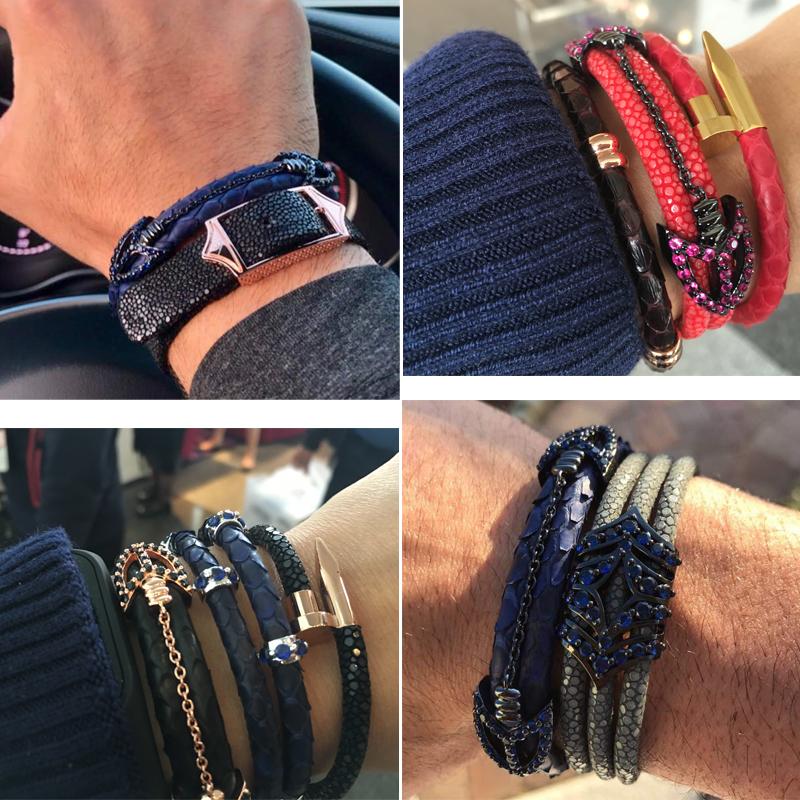 luxury-stingray&-python-arrow-bracelet-buyer-show