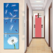 Canvas Art Flying Dandelion Cuadros Oil Painting By Numbers Realist Style Canvas Paintings Fashion Decor For Corridor Printed