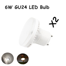6W GU24 Light Bulb, 600lm, 60W Replacement Lamp with GU24 Base, Suitable for Jelly jars, Closet lights, Pendants, Downlights, Ba(China)